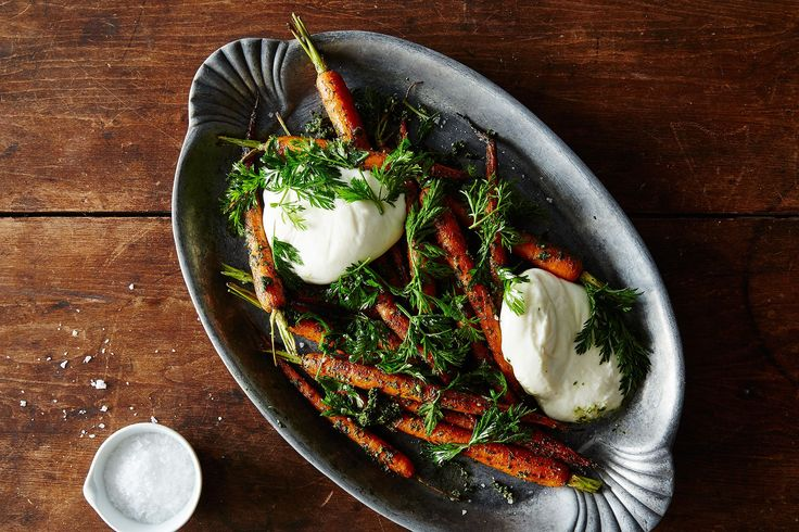 Roasted Carrots with Carrot Top Pesto and Burrata , a recipe on Food52