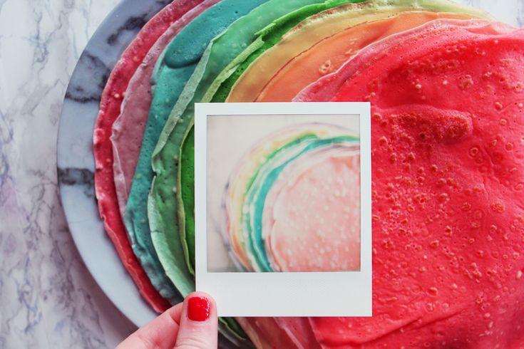 les rainbow cr pes polaroid pinterest blog diy d co narbonne et diy d co. Black Bedroom Furniture Sets. Home Design Ideas