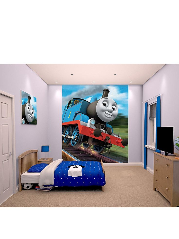Thomas Amp Friends Wall Mural Very Roommates The Train Chair Rail Prepasted  Walmart Part 35