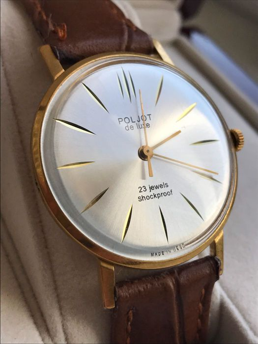 """Poljot ultra-slanke"" Men's watch. Export series limited editie. Vintage horloge Sovjet-USSR 1965-1970. AU 20  EUR 54.00  Meer informatie"