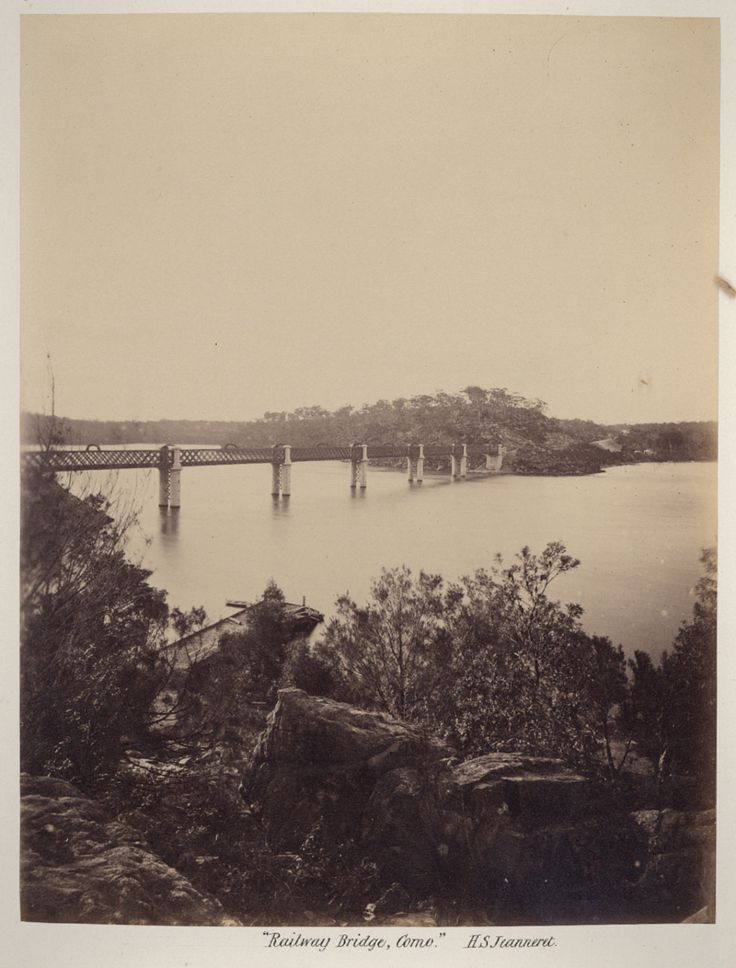 Railway Bridge,Como,in southern Sydney in 1886.Photo from Dictionary of Sydney.A♥W