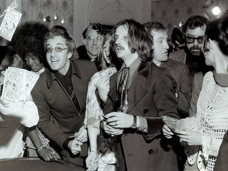 """Ringo Starr & Peter Sellers - the movie, """"The Magic Christian,"""" 1969."""