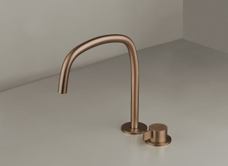 COCOON PB SET11 Deck Mounted Basin Mixer With Swivel Spout (raw Copper)