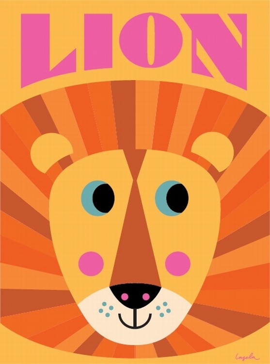 #Lion poster 50x70 by Ingela P Arrhenius from www.kidsdinge.com