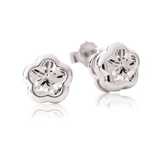 White BFlower Stud Earrings for Kids from www.thejewelryvine.com