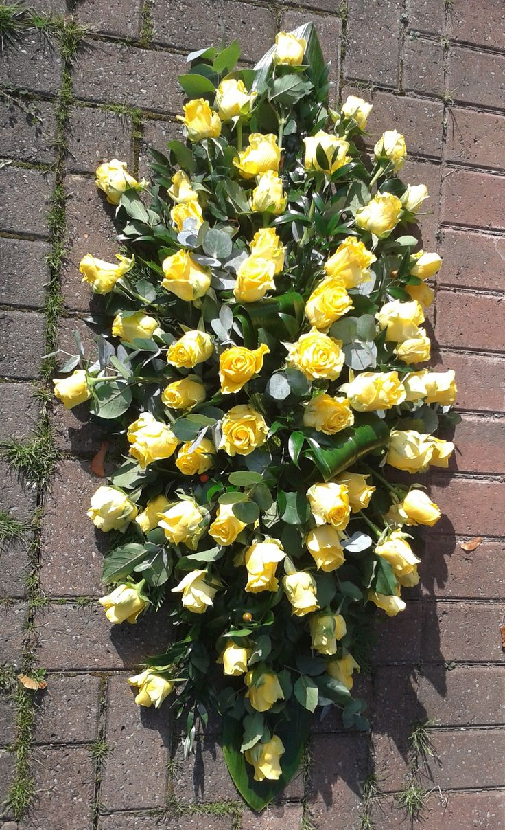 40 best funeral flowers images on pinterest funeral flowers yellow rose double ended coffin spray casket flowersfuneral flowersfuneral dhlflorist Choice Image