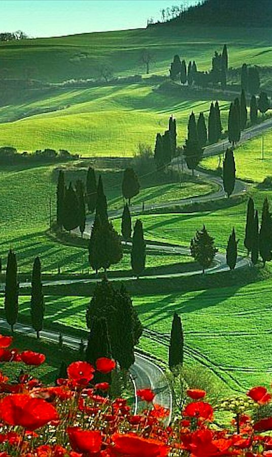 Beautiful Montichiello, Tuscany, Italy • photo: Angelo Cavalli on Art.com www.AuberginePS.com