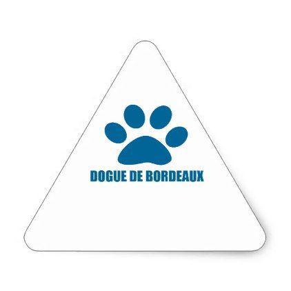 DOGUE DE BORDEAUX DOG DESIGNS TRIANGLE STICKER - individual customized unique ideas designs custom gift ideas