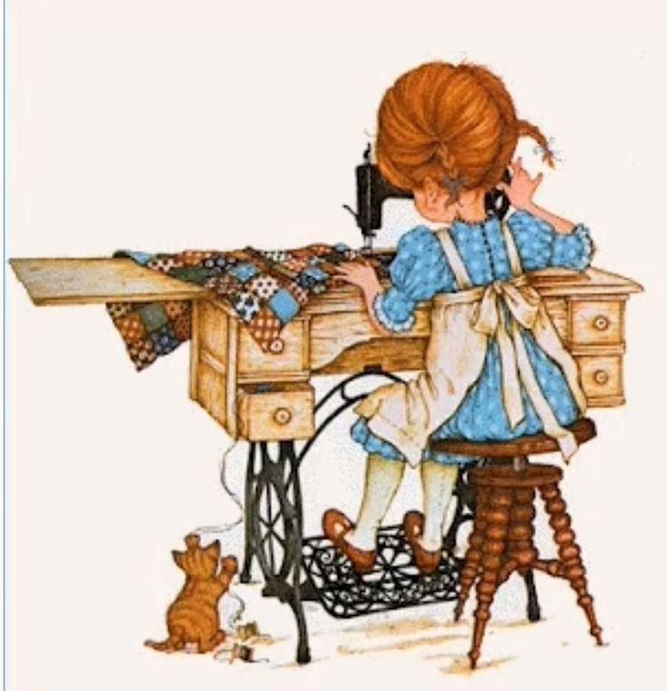 Открытки с швейной машиной, маки