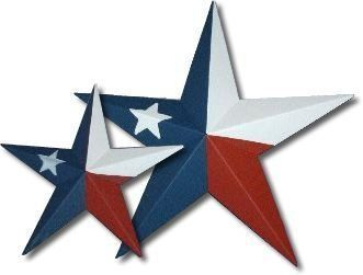 Amish Barn Stars Made in the USA Handpainted as the Texas Flag available in all sizes