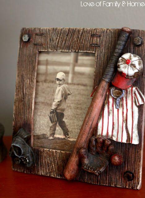 Parker's Room..... Vintage Baseball Boys' Bedroom - Love of Family & Home  Love the vintage flair!