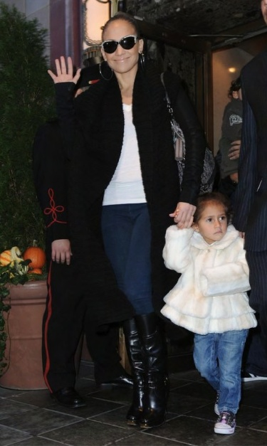 JLo is a big fan of Skechers for her Daughter. So cute.