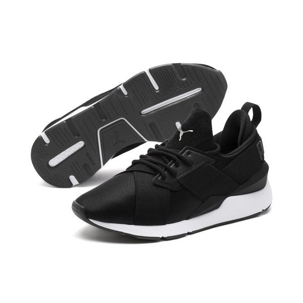 Image 1 of Muse Satin II Women's Sneakers, Puma Black ...