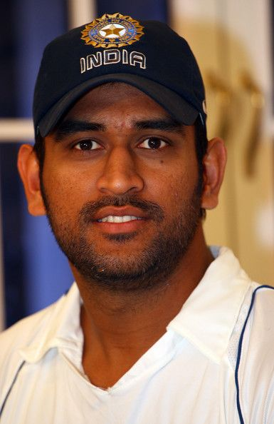 Mahendra Singh Dhoni- Present captain of the Indian cricket team