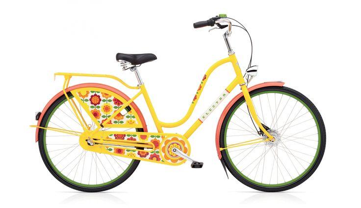 Electra Bike Amsterdam Fashion 3i - Vélo hollandais Femme - ladies jaune/Multic Achetez malin sur bikester.fr