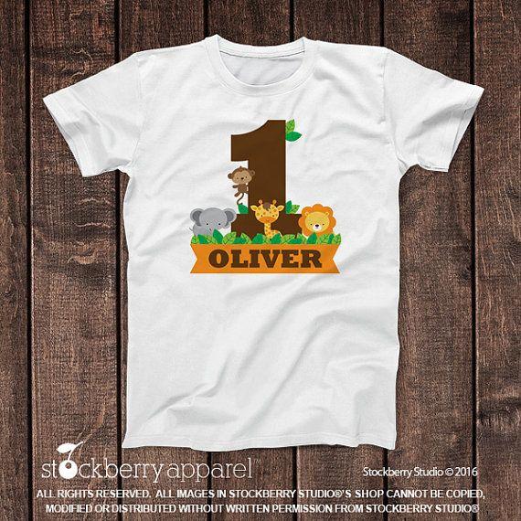 Safari Jungle Birthday Shirt Personalized by stockberryapparel