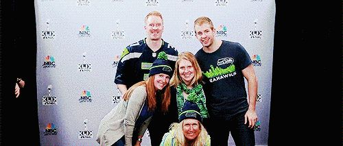 They also adorably photobombed some fans together. | 29 Times Chris Evans Ruined You For Other Men