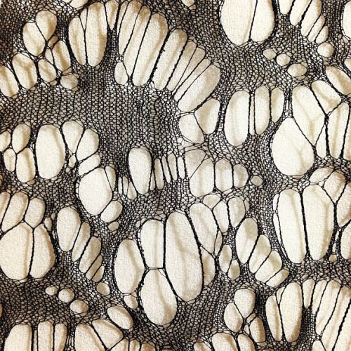 timazing:  This spider web silk lace is so insane, I wish it came it white.