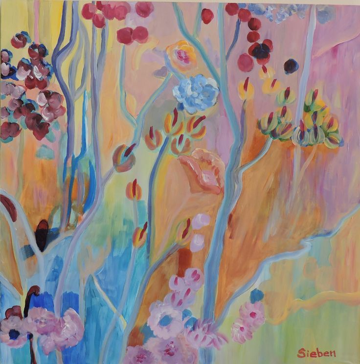 """""""Effervescence""""  to manifest high spirits or great excitement.  Acrylic on board by M. Sieben"""