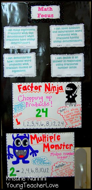 Factors and Multiples... I like this & think the kids remember it more if I throw in a ninja haha