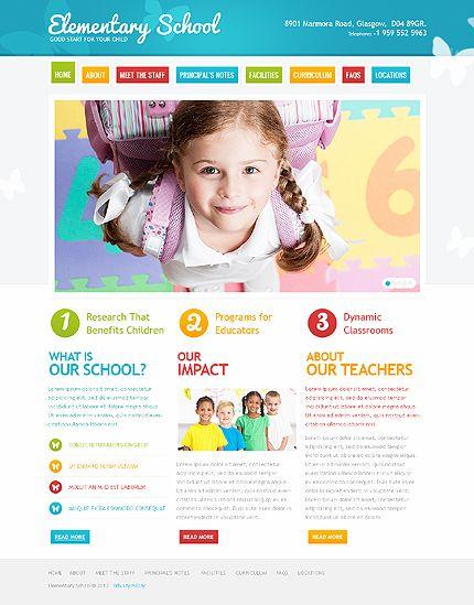 Template 41767 - Elementary School Website Template