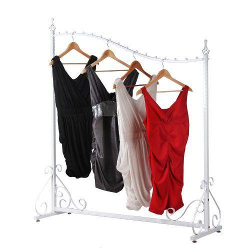 http://ift.tt/1QC6EJ4 Songmics Weiß Neu Stabil antik Kleiderständer vintage Ladeneinrichtung Metall 150 x 130 x 40 cm HRA001W @salelase#