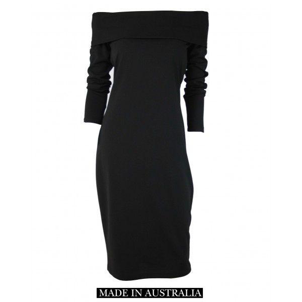 Elly Black Off Shoulder Dress