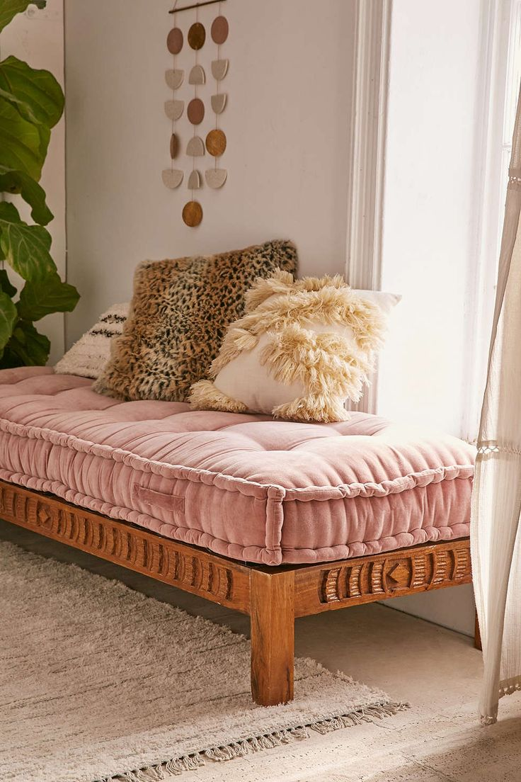 Rohini Velvet Daybed Cushion - Urban Outfitters