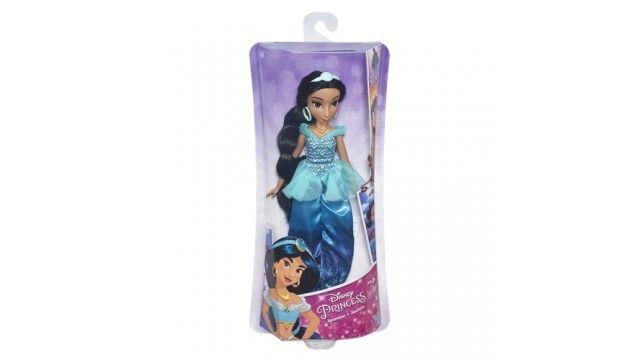 Disney Princess Royal Shimmer Pop Jasmine  Moedig je kleine dromer aan om fascinerende verhalen te spelen met prinses Jasmine. Ze kan erop los fantaseren met haar favoriete personages en zich laten inspireren om haar eigen sprookje te creÃren. Jasminedraagt de klassieke jurk die je kent uit de Aladdin maar dan met een moderne twist: op de rok van Royal ShimmerJasmine zit een mooie print met glitters. Speel het verhaal van Aladdin na of ga op een nieuw avontuur! Inhoud:Pop Outfit Schoenen…