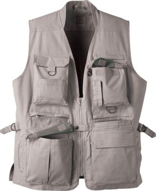 Cabela's Safari® Vest... you can never have too many pockets while geocaching