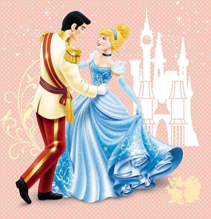 Cinderella dancing with her prince charming cinderella - Nachtlicht disney princess ...