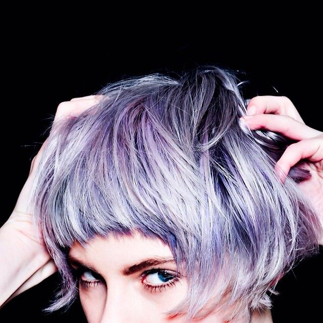 Maisy pretty purple pink hair short fringe I want so bad