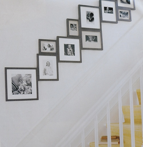 stairway display of photos