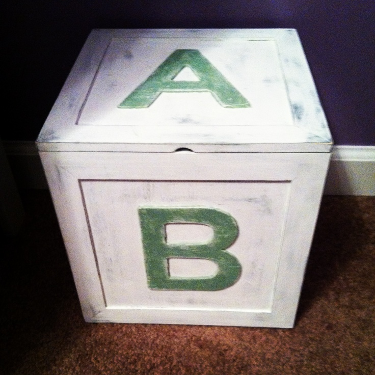 Abc Toy Box From Hobby Lobby Paint The Box Grey Then