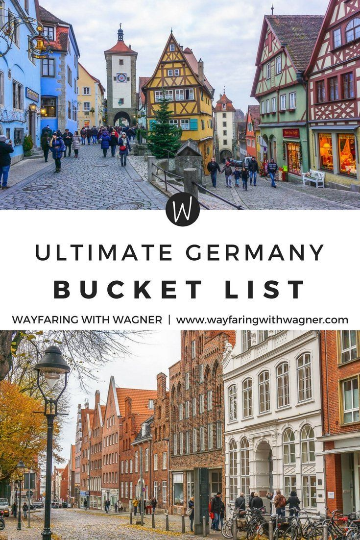 This ultimate Germany bucket list is comprised of Germany's most famous tourist attractions, historical sites, and stunning views