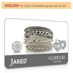 Here's How To Get A Jared Jewelers Gift Card -  Jared Jewelers is a store for the people to shop for diamond jewelry, gold jewelry, color gemstone jewelry, rings, earrings, necklaces, pendants, bracelets, chains, etc. National Consumer Center is currently giving away a $1,000 Jared Jewelers gift card. You can enter your email here for a chance to get a $1,000 Jared Jewelers gift card. Best of luck!
