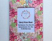 Liberty Art Fabric Picture Mount ~ Fits A4 Frame ~ Home Desk Decor Gift Wall Art ~ Pink Mauvey Print.  Shop Rhapsody and Thread via Etsy.