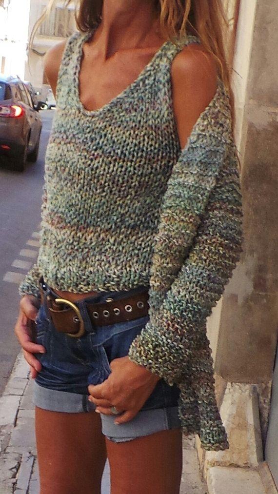 Twin Set sweater / Long line sweater and matching tank / the iLE AiYE Twin Set /