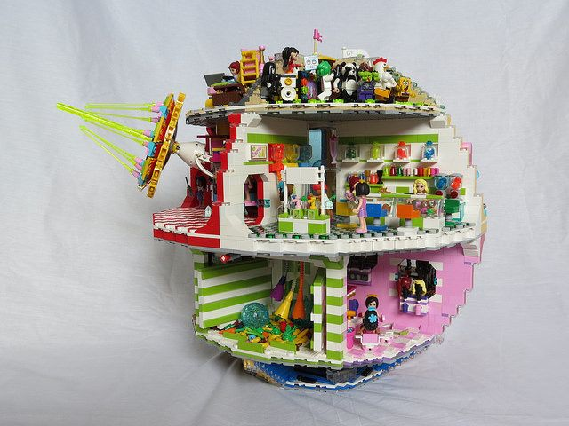 The Friends Star (remake of Star Wars Death Star using LEGO Friends pieces) ha too funny!