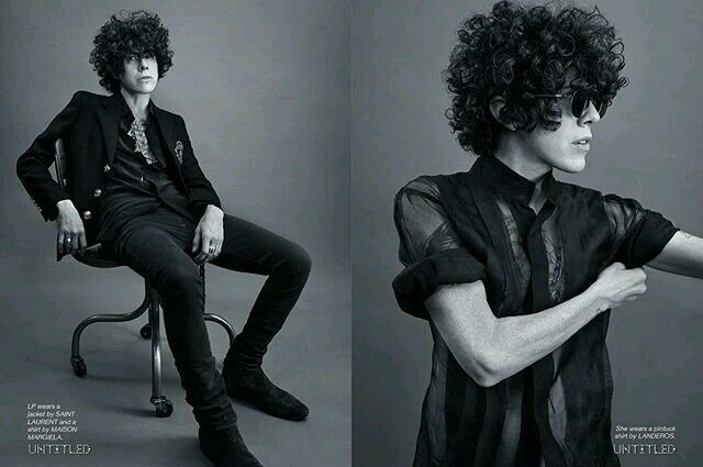 Lp black and white photoshoot collage❤.