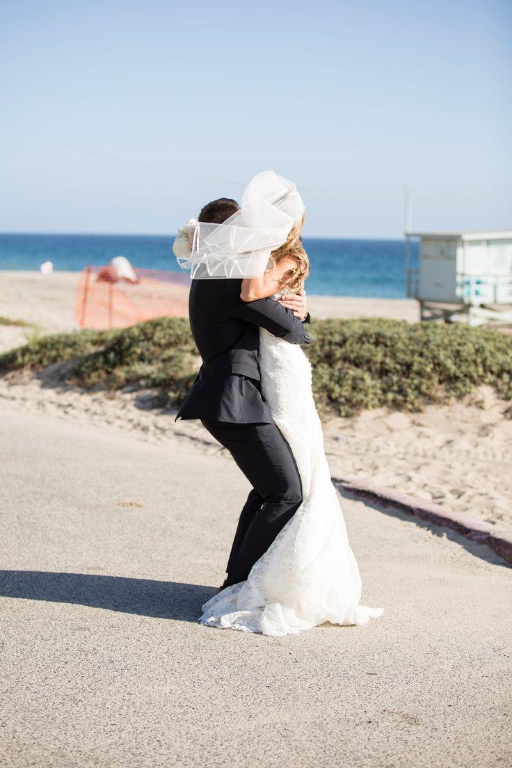 pure lavish events | beach wedding | malibu wedding | bride and groom | lavender wedding | black and purple wedding | katrina jayne | brides veil | beach wedding