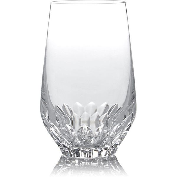 Saint-Louis Folia Crystal Highball Glass (10,880 INR) ❤ liked on Polyvore featuring home, kitchen & dining, drinkware, no color, crystal drinkware, crystal highball glass, crystal highball and crystal highball glasses