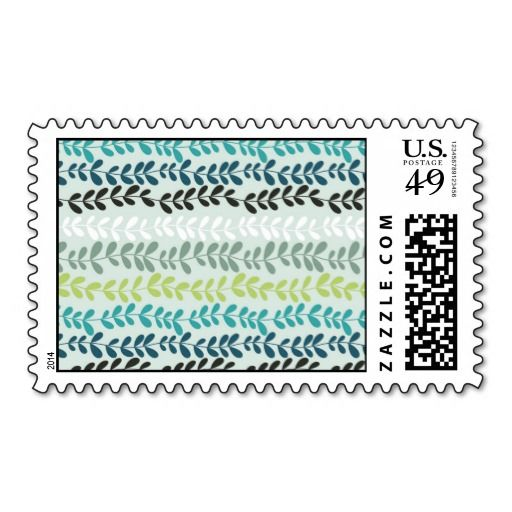 Pastel colors abstract spring flowers postage #postage #stamp #stamps #zazzle #leaves #floral #leaf #nature