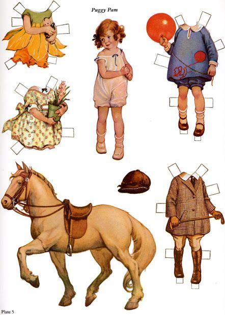 Imprimolandia: Paper dolls vintage printable: