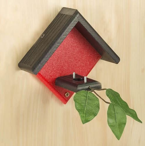 Little Red Hummingbird House by DuncraftForTheBirds on Etsy
