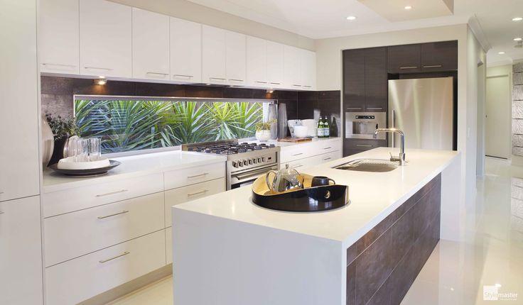 The Manhattan kitchen by Stylemaster Homes. #homebuilder #kitchendesign #kitcheninspo #interiordesign #design #displayhome #brisbane #brisbanebuilder #sunshinecoastbuilder #goldcoastbuilder