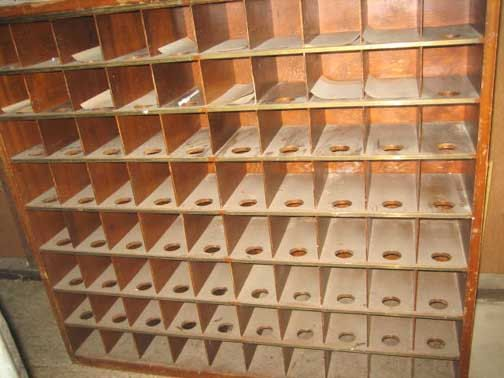 Vintage Post Office Postal Mail Room Sorter 80 Cubbies