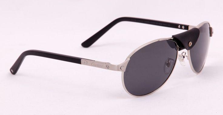 Солнцезащитные очки Cartier в металлической оправе, в фирменной упаковке, с поляризованными стеклами (защита от бликов и УФ излучения)
