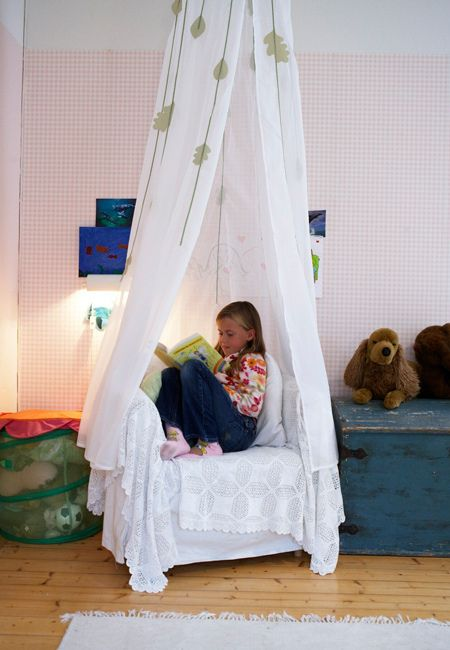 Does your child have a special place where it is quiet and comfortable for them to read?  A special reading spot can make it a easy to get them to read if they are happy to spend time there.
