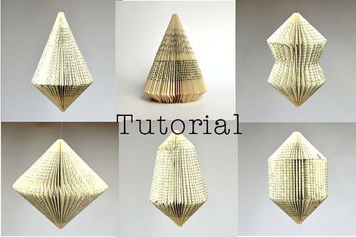 Six Book Ornament Tutorials from Paper Statement